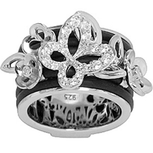 Belle Etoile Wildflower Rubber Collection Ring