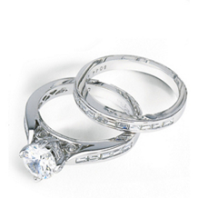 Simon G Diamond Bridal Set