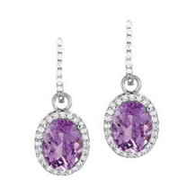 Stunning Oval Amethyst Earrings