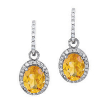 Alluring Oval Citrine Earrings