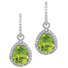Gorgeous Peridot Tear Drop Earrings