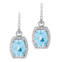 Blue Topaz Convertable Earrings