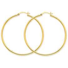 Stunning 14k Yellow Gold Round Hoop Earrings