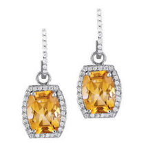 Citrine Convertable Earrings
