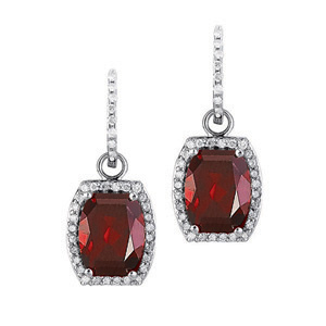 Red Garnet Convertable Earrings