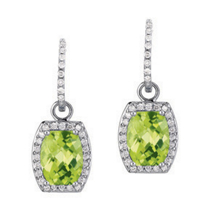 Peridot Convertable Earrings