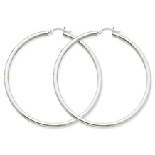 Elegant 14k White Gold Hoop Earrings