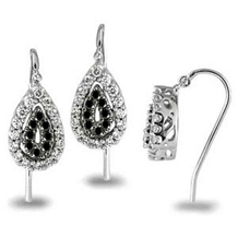Gorgeous 1/4 Carat Black Diamond Earrings