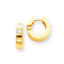 Fancy Diamond Hoop Earrings in Yellow Gold