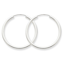 Alluring 14k White Gold Endless Hoop Earrings