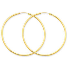Stunning 14k Yellow Gold Endless Hoop Earrings