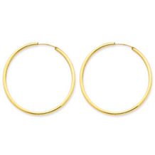 Beautiful 14k Yellow Gold Endless Hoop Earrings