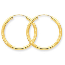 Dazzling 14k Yellow Gold Endless Hoop Earrings