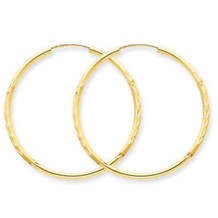 Lovely 14k Yellow Gold Endless Hoop Earrings