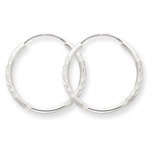 14k White Gold Endless Hoop Earrings