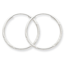 Classic 14k White Gold Endless Hoop Earrings