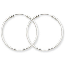 Stunning 14k White Gold Endless Hoop Earrings