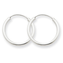 Endless Hoop Earrings in Polished 14k White Gold