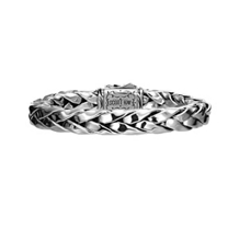 Scott Kay Equestrian Straight Silver Leather Bracelet