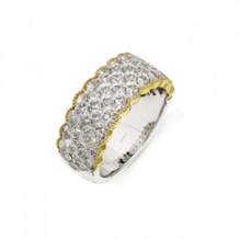 Simon G Two Tone Diamond Band