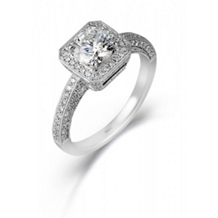 Simon G Designer Diamond Engagement Ring