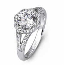 Simon G Diamond Engagement Ring for Round Center