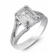 Elegant Simon G Mosaic Diamond Engagement Ring