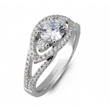 Beautiful Simon G Diamond Engagement Ring