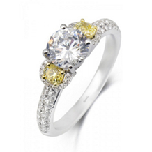 Simon G Yellow Diamond Engagement Ring