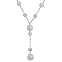 Belle Etoile Luxury White Pearl Necklace
