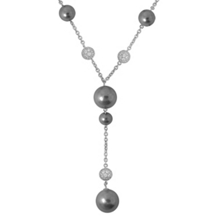 Belle Etoile Luxury Grey Pearl Necklace