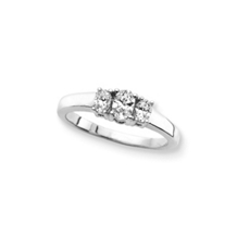 1/2 Carat Three Stone Oval Cut Diamond Ring