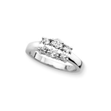 1 Carat Oval Cut Three Diamond Ring