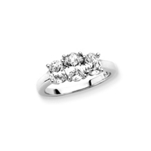 2 Carat Oval Cut Three Stone Diamond Ring