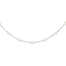 14k White Gold White Pearl Necklace