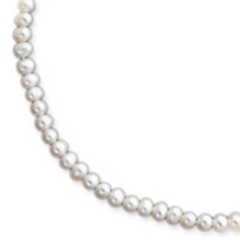 5-5.5mm White Freshwater Onion Cultured Pearl Necklace