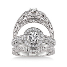 Alluring 3/4 Carat Diamond Wedding Set