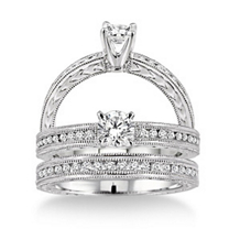 Marvelous 3/4 Carat Diamond Wedding Set