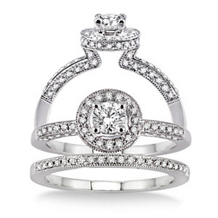 5/8 Carat Total Weight Diamond Wedding Set