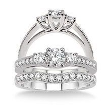 Lovely 1 Carat Diamond Wedding Set