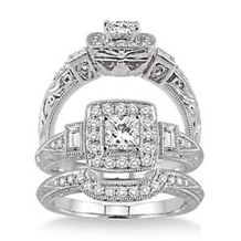 Diamond Wedding Set 3/4 Carat Total Weight