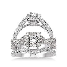 Resplendent 3/4 Carat Total Weight Wedding Set
