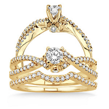 14k Yellow Gold 5/8 Carat Wedding Set