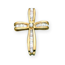 7/8 Carat Diamond Cross Pendant
