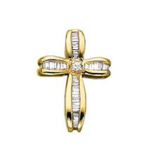 3/8 Carat Diamond Cross Pendant