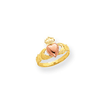 14k Two Tone Baby Claddagh Ring