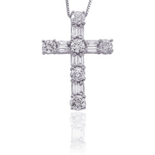 1/4 Carat Diamond Cross Pendant