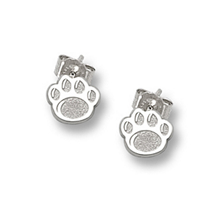Sterling Silver Penn State Paw Print Earrings