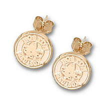 Gold Plated Boston Red Sox Post Earrings