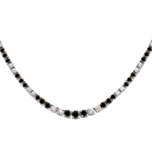 9 Carat Black And White Diamond Tennis Necklace